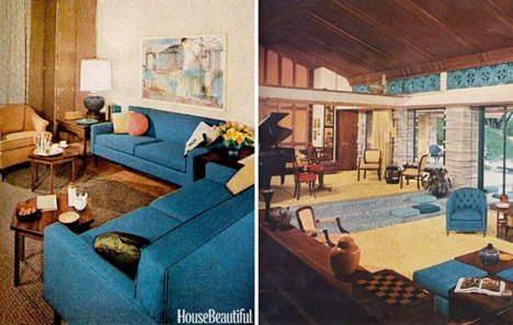 house beautiful, mid century modern style
