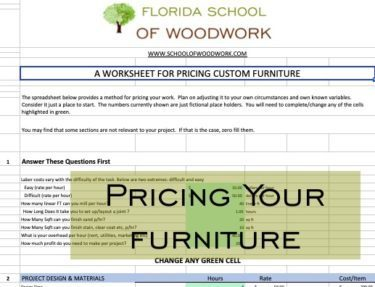 pricing custom furniture