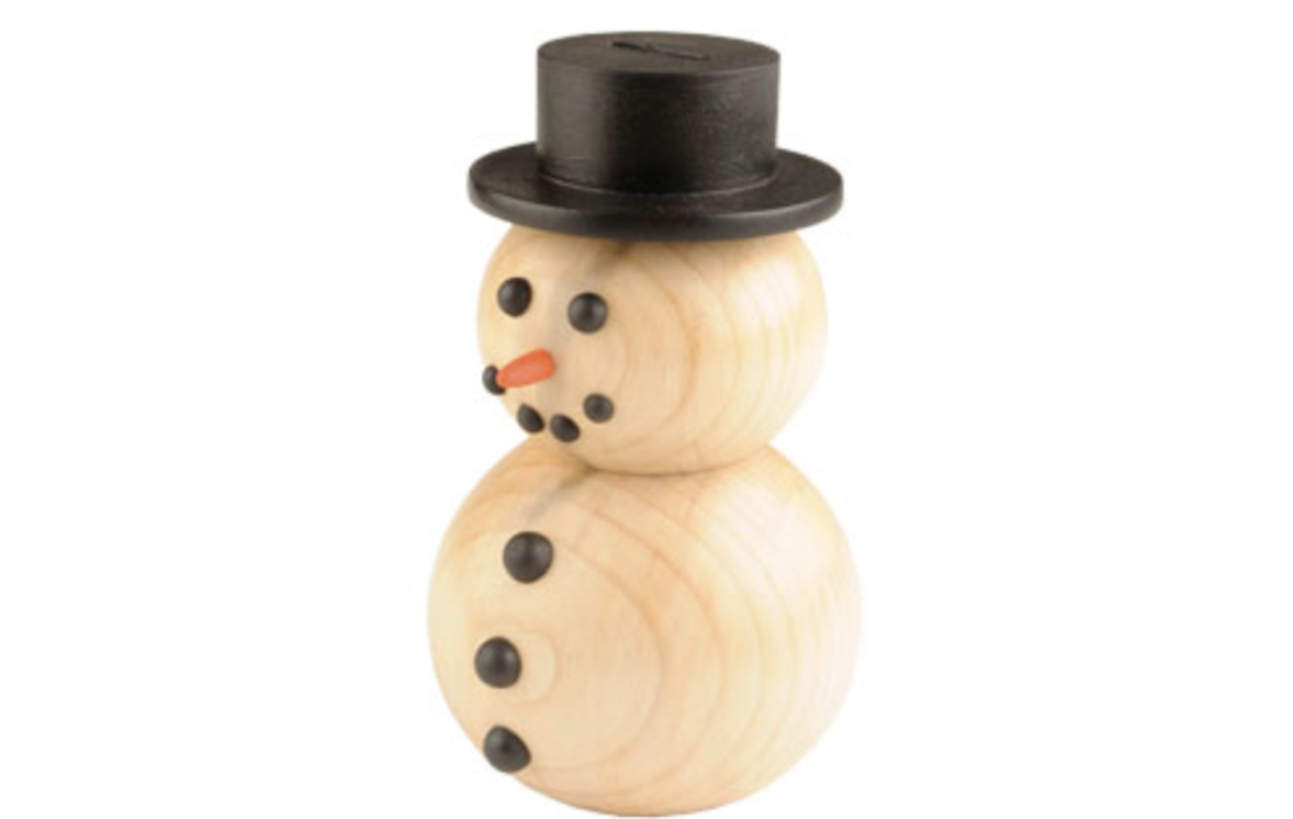 wooden snowman, turning, wooden, christmas gifts
